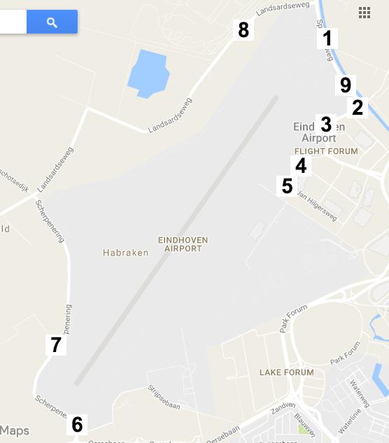 spottersplaatsen eindhoven airport