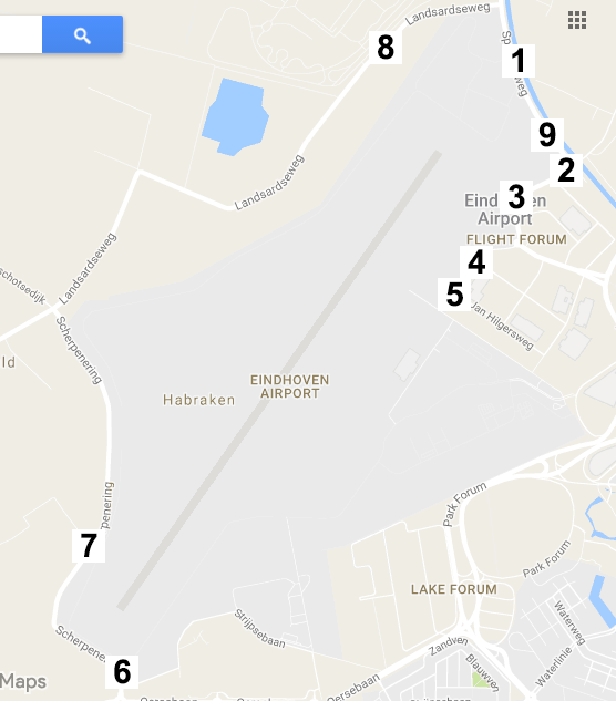 vluchten eindhoven airport vertrek