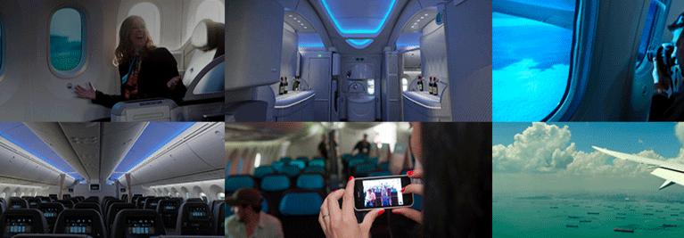 dreamliner boeing 787 interieur
