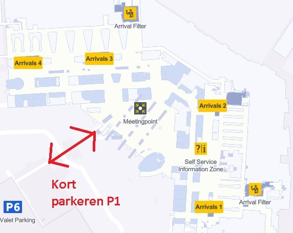 schiphol plaza plattegrond