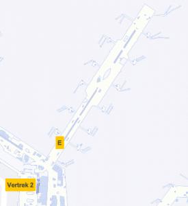 Plattegrond Schiphol Vertrekhal 2 Gate E