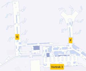 Plattegrond Schiphol Vertrekhal 2 Gates F en G